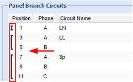 Circuit type cannot be changed later. Enter the current rating of the circuit in Amps.