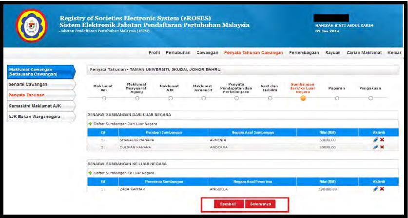 Step 22: You will arrive to the section of Paparan and click Cetak Penyata to save a