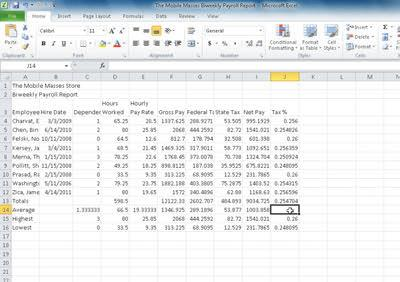 Remember that Excel adjusts the cell references in the copied functions so that each function refers to the range of numbers above it in the same column.