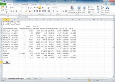 EX 92 Excel Chapter 2 Formulas, Functions, and Formatting Formatting the Worksheet Although the worksheet contains the appropriate data, formulas, and functions, the text and numbers need to be