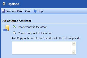 Outlook Web Access (OWA) PTHS District 209 About Options Microsoft Office Outlook Web Access provides several ways to customize program features, functionality, and appearance: Automatically Reply to