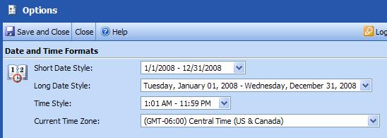 Outlook Web Access (OWA) PTHS District 209 Set Date and Time Formats To set the date and time formats used in your message folders and calendar items, use the drop-down lists to select your preferred