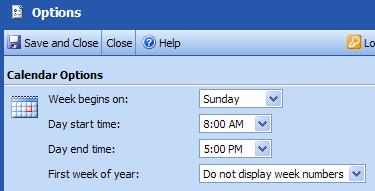 Outlook Web Access uses the browser language setting to provide region-specific options. Customize Your Calendar View You can customize your calendar using Calendar options.