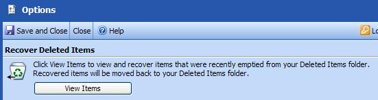 Recover Items You Have Deleted After you delete an item from your Deleted Items folder it is permanently deleted. However, you can recover a deleted item if you change your mind about deleting it.