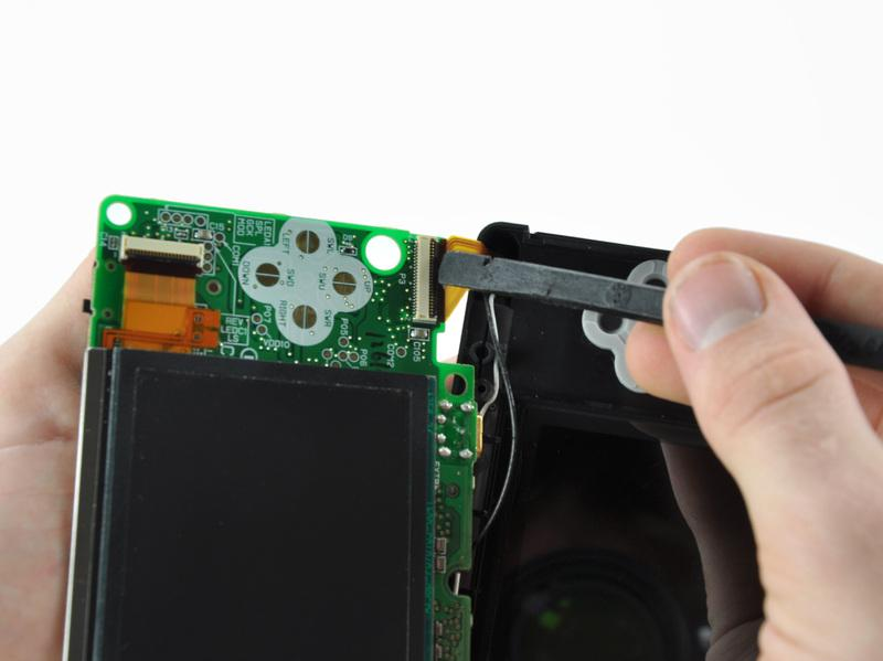 Step 16 Use your fingernail or the flat edge of a spudger to carefully flip up the upper LCD ribbon cable retaining flap.