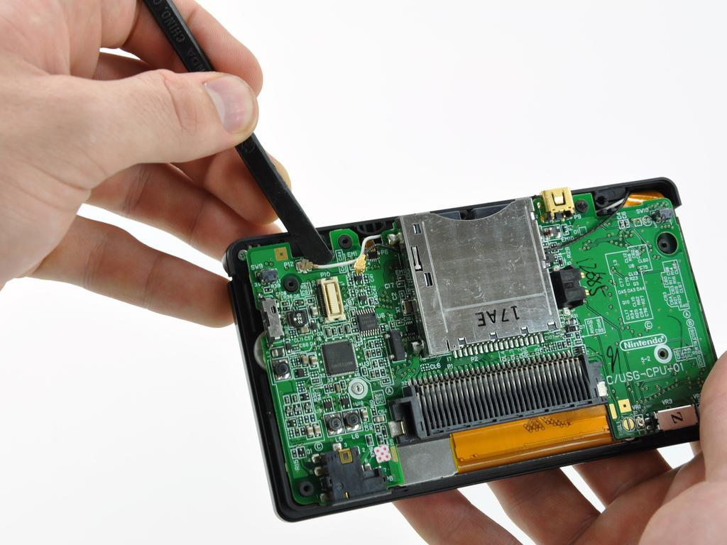 Remove the Wi-Fi board from the DS Lite.