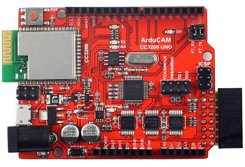 1 Introduction ArduCAM team now announces to release a new CC3200 UNO board which is full featured development board almost like a combination of CC3200 Launchpad plus CC3200CAMBOOST pack from TI