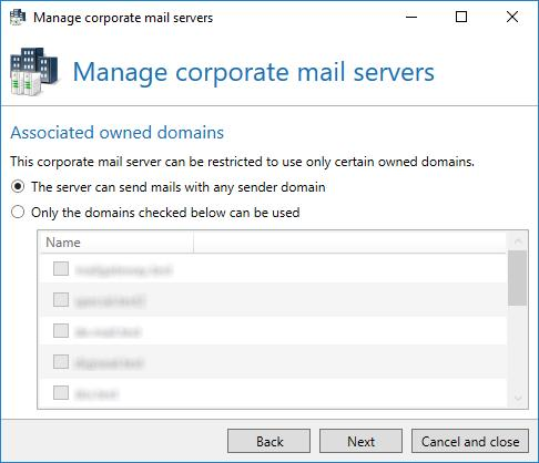 Picture 69: Indicate with which owned domains the server is allowed to send mails Picture 70: Optionally, you can write a comment Multiple