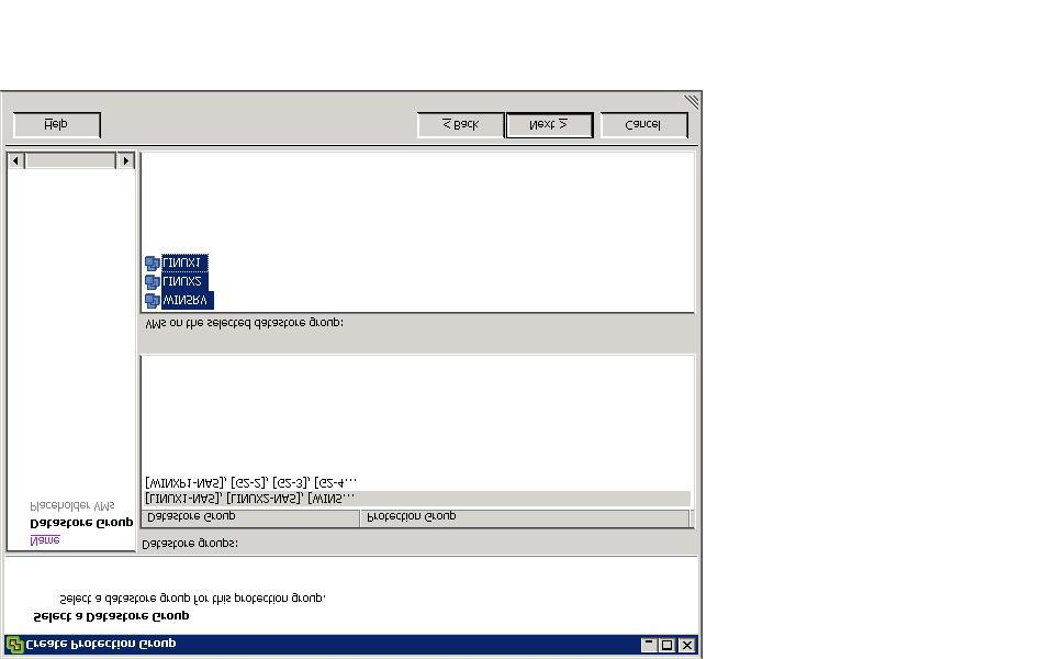 Figure 10. Data store group 4. Select the placeholder data store.