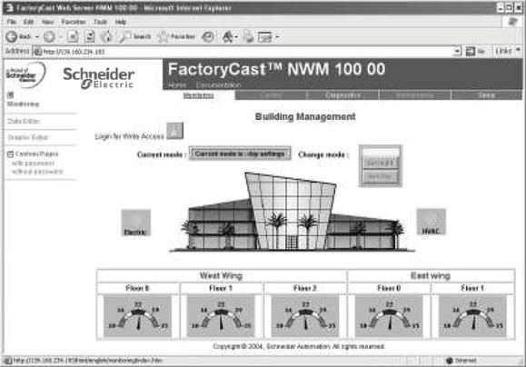Functions (continued) Modicon Quantum automation platform PlantStruxure Ethernet Architectures FactoryCast HMI active Web services.