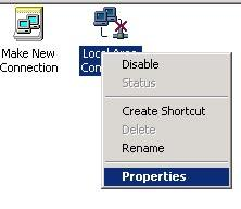 (2) Right click [Local Area Connection], and select