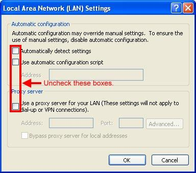 Network LAN Setting].