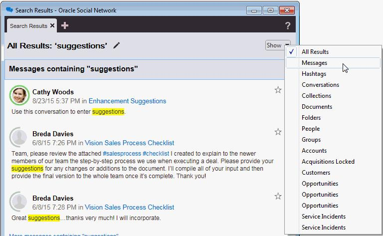 Flags Controls Text Search Controls See the Oracle Social Network help: Desktop > Getting Started > What is the Detail window?