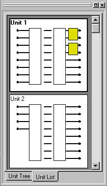 6. UNIT VIEW The Unit View is located at the upper left of the main screen. It displays up to 30 units in a tree-view or list-view style, which can be switched by clicking the tab below.
