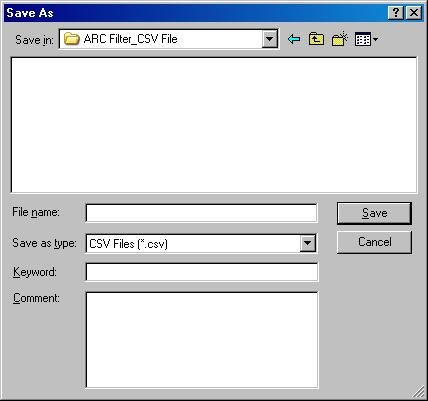11.4. Export The parameters of ARC filters can be output as a CSV file. Step 1. Select the unit in the unit view or flow view.