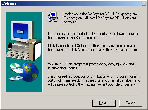 Step 4. Open the [DPK1_Software] folder. Step 5. Double-click the DPK1_PCvxxx_fxxx_e.exe* file.