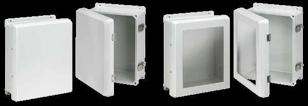 Fiberglass Overlapping Cover Flat Cover with Latches, Type X INDUSTRY STANDARDS UL 508A Listed; Type, R,, X, 12, 1; File No. E5 cul Listed per CSA C22.2 No 9; Type, R,, X, 12, 1; File No.