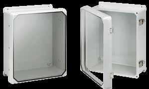 Fiberglass Overlapping Cover Flat Clear Cover with Latches, Type X INDUSTRY STANDARDS UL 508A Listed; Type, R,, X, 12, 1; File No. E5 cul Listed per CSA C22.2 No 9; Type, R,, X, 12, 1; File No.