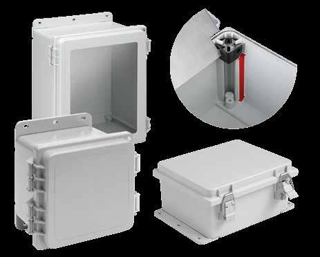 Polyester POLYPRO, Type X POLYPRO, Type X POLYPRO Polyester Enclosures INDUSTRY STANDARDS Mounting brackets required to meet UL/CSA external mounting requirements.