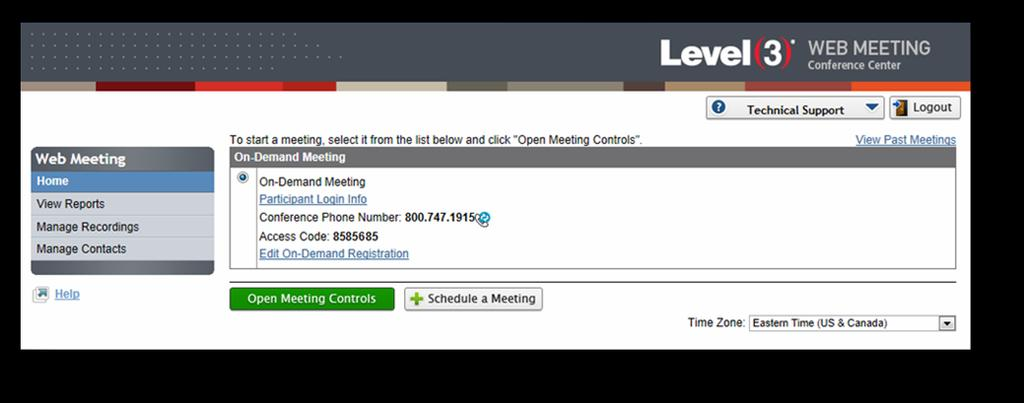 Tday s Cnferencing Web Meeting User Guide Frm the Meeting Details, yu can click n the Cntact r Lead name t return t the recrd. Yu can als click n the Meeting Title t display the full Meeting Details.