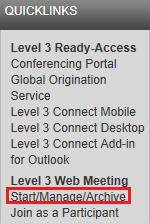 Tday s Cnferencing Web Meeting User Guide Chairpersn: Hw t Access Tday s Cnferencing Web Meeting Start an Ad-Hc Web Meeting 1. G t http://autrecrd.cfer.cm/cnferencing 2.
