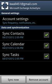 Synchrnizing Yur Micrsft Exchange ActiveSync Accunt Yu can adjust yur Exchange ActiveSync accunt settings t change the cntent that is synchrnized t yur device. 1.