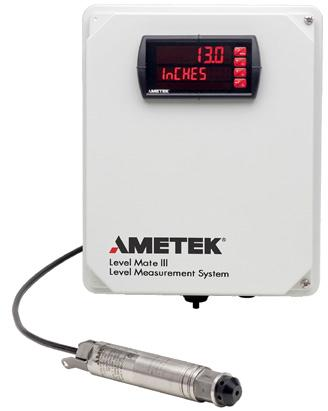 LEVEL MATE III Level Measurement System The complete LEVEL MATE III system includes a level sensor (various models are available), cable