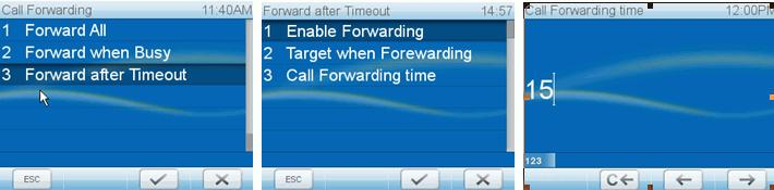To turn call forwarding off, follow steps a through h, above. Press to show No on display. Press the idle screen.