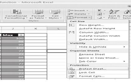 For this you can give password protection to your worksheet contents. Steps to protect worksheet Select Home tab.