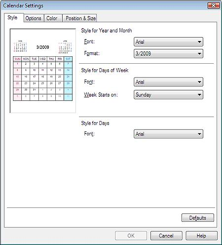 Setting Calendar Display Стр. 177 из 334 стр.
