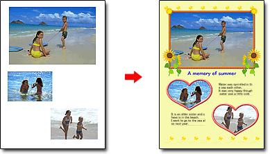 Using Easy-PhotoPrint EX Стр. 332 из 334 стр. CHECK! Select Album to add text and frames.