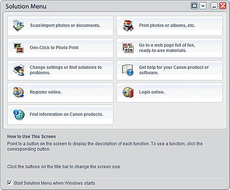 About Solution Menu Стр. 333 из 334 стр. Advanced Guide > About Solution Menu About Solution Menu Quick Shortcut!