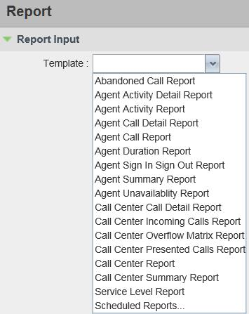 Generate Reports Generate Reports Call Center provides reporting functions to agents and supervisors.