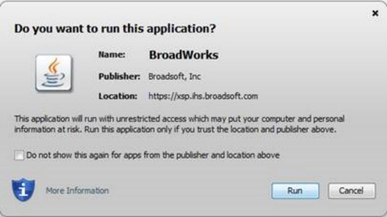 Appendix A: Steps for Using Plug-Ins Figure 5. Do you want to run this application? Dialog Box Click the Run button.