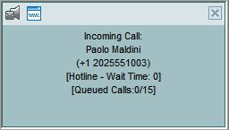 Manage Calls View Incoming Call Details When you receive a new call, the call appears in the Call Console.