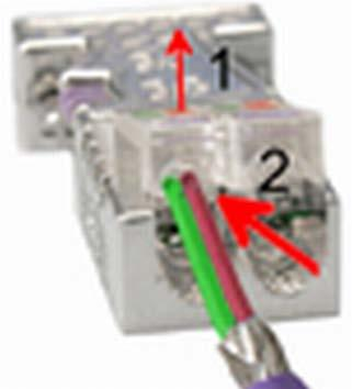 Deployment PROFIBUS communication VIPA System 300S Commissioning and Start-up behaviour Assembly 1. Loosen the screw. 2. Lift contact-cover. 3. Insert both wires into the ducts provided (watch for the correct line colour as below!