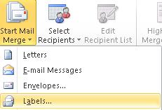 Navigate the Records In order to see all the subsequent records, click on the Go to record tool on the Mailings tab.