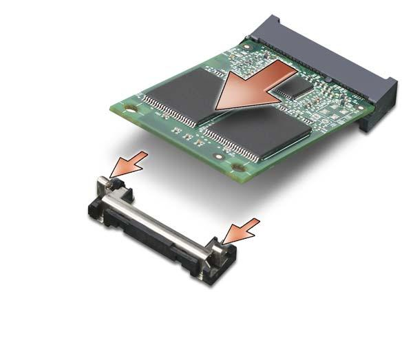 "1 Replacing the FCM 1 metal securing tab 1 Insert the FCM connector at a 45-degree angle into the system board connector labeled ""FCM"" either in the WLAN"