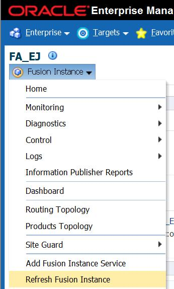 The process of refreshing a Fusion Apps Instance is exactly