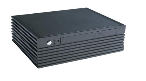 Silent opeartion with fanless solution Steel chassis, Aluminium front