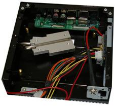 HTPC chassis Ideal for VIA Nano-ITX MB Space-saving flat cable is