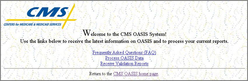 The system respnds t a successful lgin with the OASIS Main Menu page (Figure 3-4). Figure 3-4. OASIS Main Menu Page The fllwing links are available n the OASIS Main Menu page.