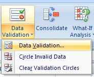 Data Validation To ensure only positive values are included in the quantity column Highlight cells
