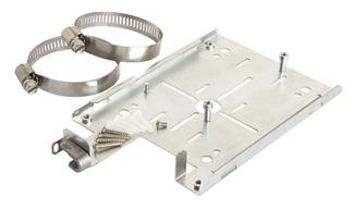 bracket for indoor AP s supports mounting to hard wall, ceiling, pole or truss. Supports padlock security with ZoneFlex R710.