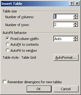 Task 12 - Creating a Table A table neatly arranges text and data in a grid, organized by columns and rows. In this lesson, you will learn how to create a table and then enter information into it.