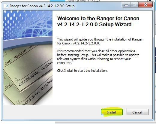 After Selecting the CR-50/80 Ranger Driver look to the bottom of the browser window. Select Run to begin the download.