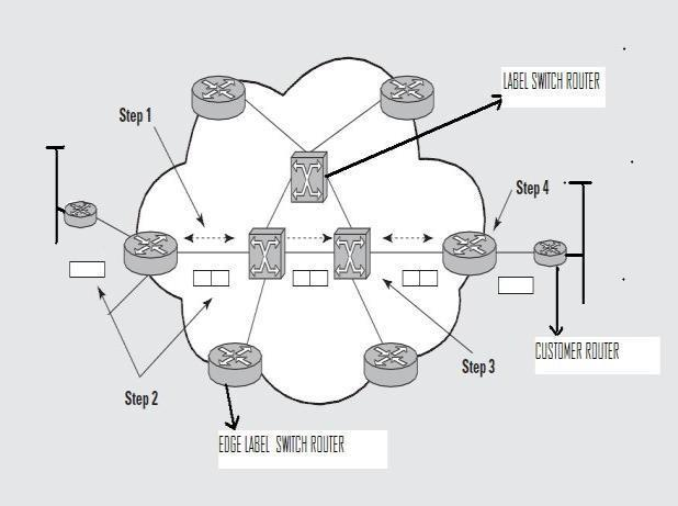 A LSP is assigned to each FEC that is defined using IP interior routing protocols (OSPF).