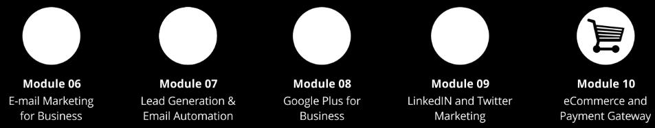 Course Modules : We not only build Effective Internet Marketing Strategies for Organizations but we also make sure; that Implementation actually happens so that you can