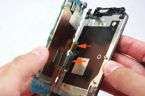 When the ribbon cable is released, remove the ribbon cable from its socket.