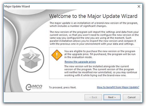 Program Updates Major Update Along with the Live Update feature, Ping Monitor comes with a built-in function of automatic checking for Major Updates.